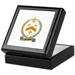 BOURGOIN Family Crest Keepsake Box