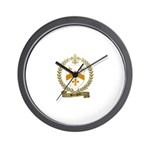 BOURGOIN Family Crest Wall Clock