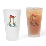 Funny Long Running Pi Drinking Glass