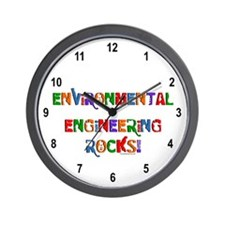 Environmental Rocks Text Wall Clock