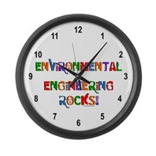 Environmental Rocks Text Large Wall Clock