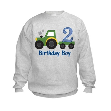 2nd Birthday Tractor Kids Sweatshirt