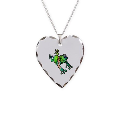 Froggie Necklace Heart Charm