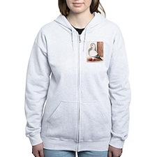 Blue Owl Pigeon Zip Hoodie