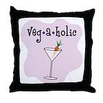 Veg-a-holic Throw Pillow