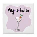 Veg-a-holic Tile Coaster