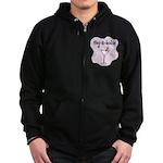 Veg-a-holic Zip Hoodie (dark)