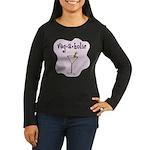Veg-a-holic Women's Long Sleeve Dark T-Shirt