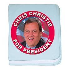 Chris Christie for President baby blanket