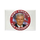Newt Gingrich for President Rectangle Magnet (100