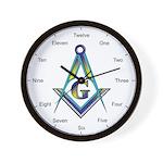 Masonic Lettered Wall Clock