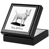 White Bull Terrier Keepsake Box