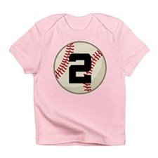 Baseball Player Number 2 Team Infant T-Shirt