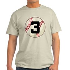 Baseball Player Number 3 Team T-Shirt