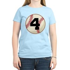Baseball Player Number 4 Team T-Shirt