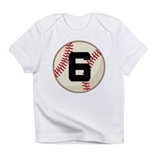 Baseball Player Number 6 Team Infant T-Shirt