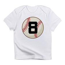 Baseball Player Number 8 Team Infant T-Shirt