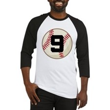Baseball Player Number 9 Team Baseball Jersey