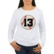 Baseball Player Number 13 Team T-Shirt