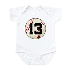 Baseball Player Number 13 Team Onesie