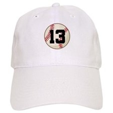 Baseball Player Number 13 Team Baseball Cap