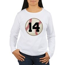 Baseball Player Number 14 Team T-Shirt