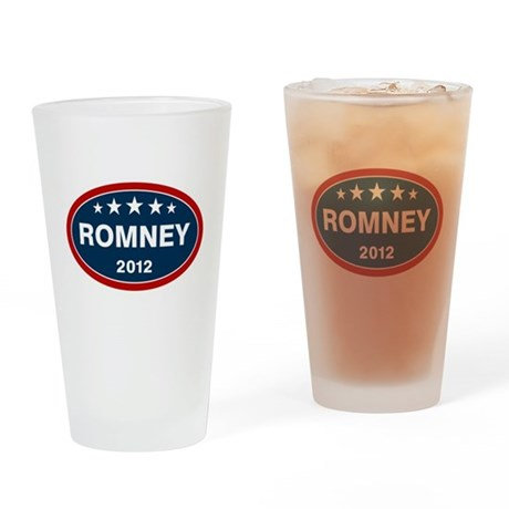 Romney 2012 [blue] Drinking Glass