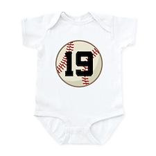 Baseball Player Number 19 Team Infant Bodysuit