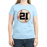 Baseball Player Number 21 Team T-Shirt
