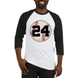 Baseball Player Number 24 Team Baseball Jersey