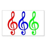 MUSIC V Sticker (Rectangle 50 pk)
