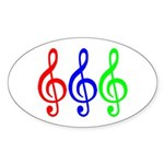 MUSIC V Sticker (Oval)