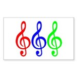 MUSIC V Sticker (Rectangle)