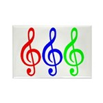 MUSIC V Rectangle Magnet (100 pack)