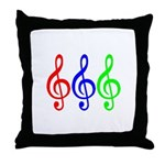 MUSIC V Throw Pillow
