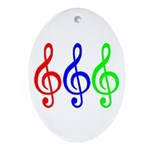 MUSIC V Ornament (Oval)