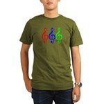 MUSIC V Organic Men's T-Shirt (dark)