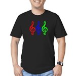 MUSIC V Men's Fitted T-Shirt (dark)