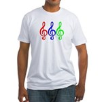 MUSIC V Fitted T-Shirt