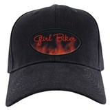 Girl Biker Flames Baseball Hat