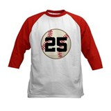 Baseball Player Number 25 Team Tee