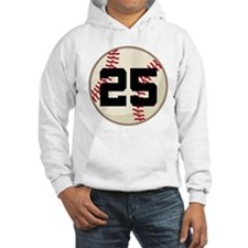Baseball Player Number 25 Team Hoodie