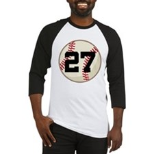 Baseball Player Number 27 Team Baseball Jersey