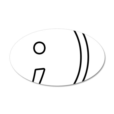 LOL Smiley Face - Wink 38.5 x 24.5 Oval Wall Peel