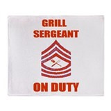 bbq grill sergeant Throw Blanket