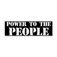 Power to the People Car Magnet 10 x 3