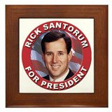 Rick Santorum for President Framed Tile