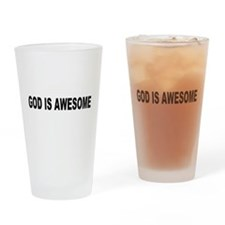 God Is Awesome Pint Glass