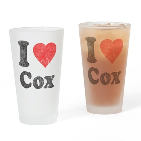 I Love Cox Pint Glass