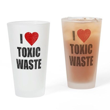 I Love [Heart] Toxic Waste Pint Glass